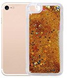 For iPhone 7 Case, HP95(TM) Multicolor Bling Quicksand Ultra Slim Chrome Case Cover For iPhone 7 4.7 Inch (Gold)