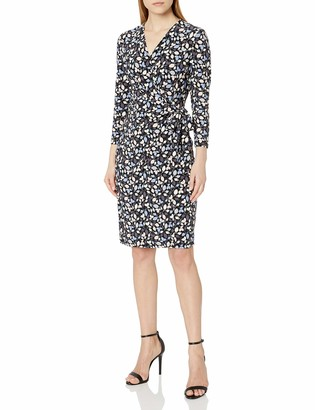 Anne Klein Women's Classic V-Neck Faux WRAP Dress