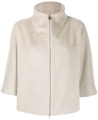 Fabiana Filippi Short-Sleeve Fitted Jacket