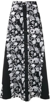 AMIR SLAMA Margarida printed maxi skirt