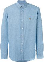 MAISON KITSUNÉ embroidered fox shirt - men - Cotton - 42