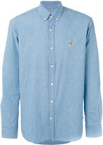 MAISON KITSUNÉ embroidered fox shirt - men - Cotton - 43