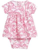 Vineyard Vines Flamingo Pima Cotton Skirted Bodysuit