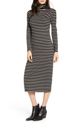 AG Jeans Chelden Long Sleeve Turtleneck Midi Dress