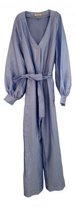 Stine Goya Blue Silk Jumpsuits