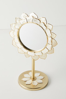 Anthropologie Penny Ombre Capiz Vanity Mirror By in Gold Size S