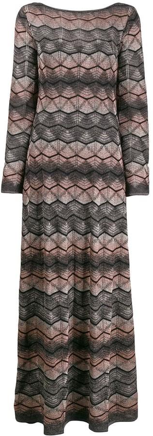 M Missoni Zig Zag Patterned Maxi Dress