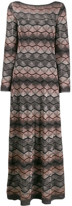 M Missoni Zig Zag Patterned Maxi Dress
