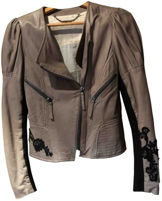 Barbara Bui Grey Leather Leather Jacket for Women