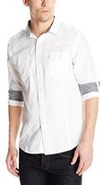 Sovereign Code Men's Champion Long Sleeve Military Shirt with Epaulettes