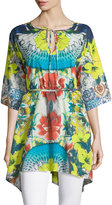 Johnny Was Floral-Print Tunic, Multi