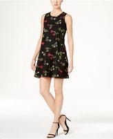 Tommy Hilfiger Floral Embroidered Shift Dress