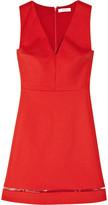 Stretch-cotton A-line dress