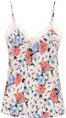 Veronica Beard Gil floral silk camisole