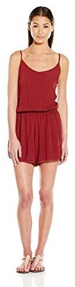 RD Style Women's Strappy Crinkle Romper