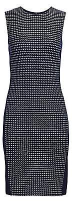 St. John Women's Dotted Tweed Sleeveless Sheath Dress