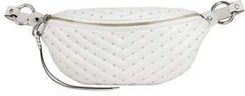 Rebecca Minkoff Edie Quilted Sling Belt Bag, White