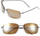 Maui Jim Men's 'Frigate - Polarizedplus2' 65Mm Polarized Sunglasses - Dark Gunmetal/ Maui Ht