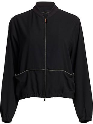 Fabiana Filippi Wool Twill Bomber Jacket