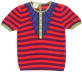 Gucci Stripes & Ruffles Intarsia Sweater