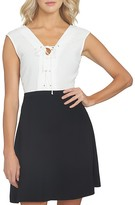 1 STATE 1.state Lace-Up Color-Block Dress