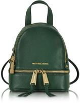 Michael Kors Rhea Zip Leather Extra Small Messenger Backpack