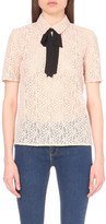 The Kooples Lace cotton-blend top