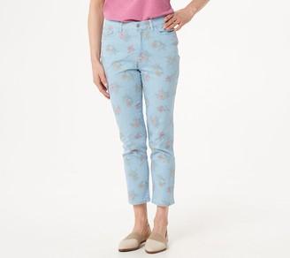 Denim & Co. Studio by Stripe Printed Floral Ankle Pants