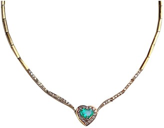 Non Signã© / Unsigned Emeraude Yellow Yellow gold Necklaces