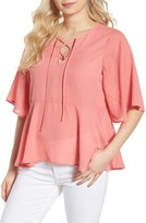 Cupcakes And Cashmere Women's Josselyn Peplum Top