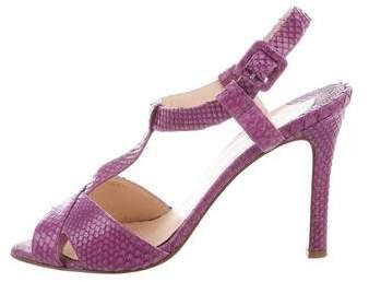 Christian Louboutin Snakeskin T-Strap Sandals