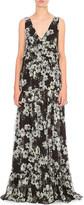 Erdem Floral-print silk-chiffon gown