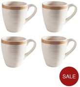 Mason Cash Set Of 4 Cane Mugs