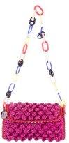 M Missoni Woven Raffia Shoulder Bag