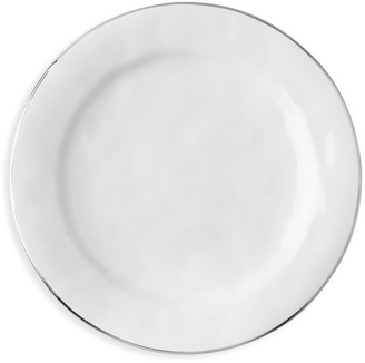 Juliska Puro Platinum-Rim Ceramic Stoneware Dinner Plate