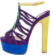 Brian Atwood Cage Platform Sandals