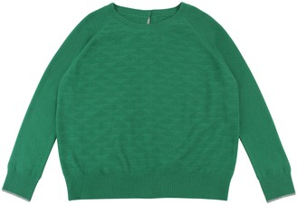Lowie Cashmere Green Button Back Jumper - L - Green
