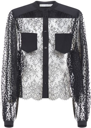 Givenchy Sheer Lace Blouse
