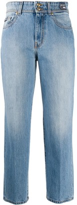 Versace Jeans Couture High-Rise Cropped Jeans