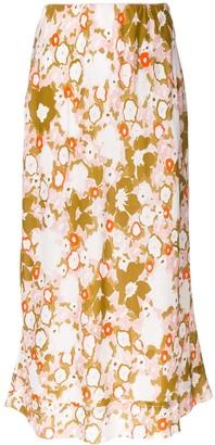 Lee Mathews Nula Monet floral-print skirt