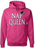 Tee Hunt Nap Queen Funny Hoodie Lazy Chill Sleeping Sweatshirt M