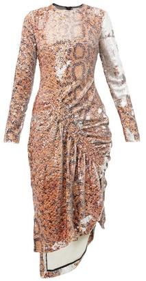 Preen by Thornton Bregazzi Gladys Snake-print Flip-sequinned Dress - Womens - Yellow Print