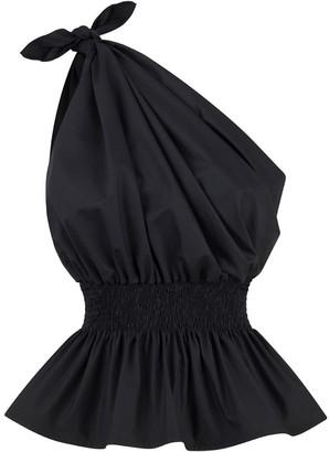 Monica Nera Demi One Shoulder Black Top