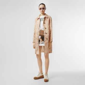Burberry Deer Print Nylon Car Coat