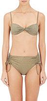 YASMINE ESLAMI Women's Twist Bandeau Bikini Top