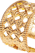 Kenneth Jay Lane Woven-effect gold-plated cuff