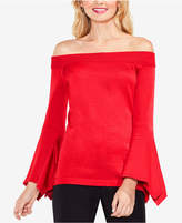 Vince Camuto Cotton Off-The-Shoulder Bell-Sleeve Sweater
