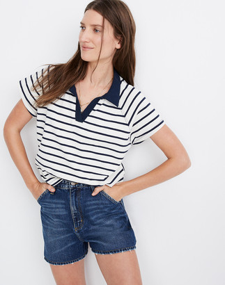 Madewell Lee High-Rise Dungaree Jean Shorts