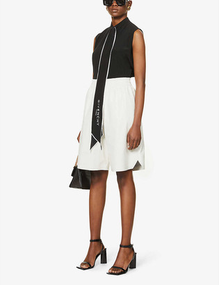Givenchy Scarf-detail silk shirt