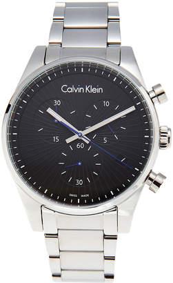 Calvin Klein K8S27141 Silver-Tone & Black Chronograph Watch